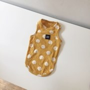 [T.크림도트 민소매]Creamdot sleeveless T_Mustard