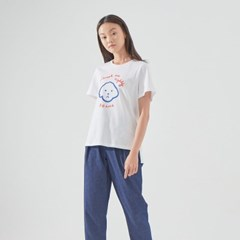 BBAMA T-SHIRT (WHITE/ BLUE)