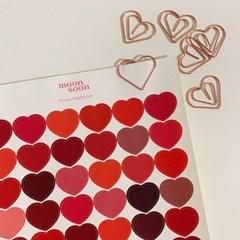 하트 스티커 레드 heart stickers red