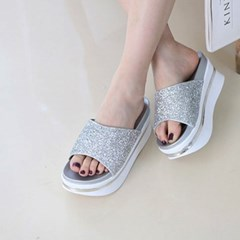 kami et muse 7cm tall up platform glittering slippers_KM19s254