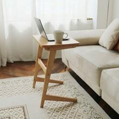 [리코베로]아망떼 소나무원목 사이드 보조 테이블 2컬러