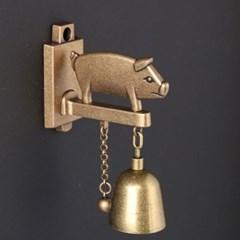 심플 모던 돼지 도어벨 문종