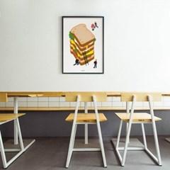 유니크 인테리어 디자인 포스터 M 샌드위치 타워 베이커리 카페