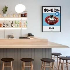 유니크 일본 인테리어 디자인 포스터 M 냉모밀 여름