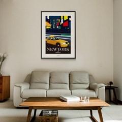 유니크 인테리어 디자인 포스터 M 뉴욕 브로드웨이 NewYork