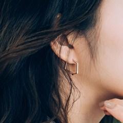 14k18k 지그재그 링 귀걸이