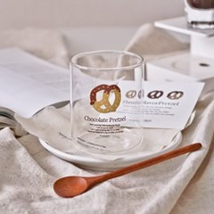 초콜릿 프레첼 글라스 300ml (내열유리 홈카페컵)