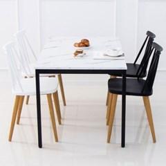 마블 4인 식탁세트 테이블 마블 대리석st 화이트마블