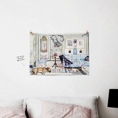 패브릭 천 포스터 F300 일러스트 그림 액자 코지 코너