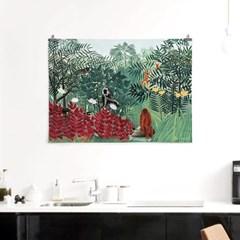 패브릭 포스터 명화 그림 빈티지 천 액자 앙리 루소