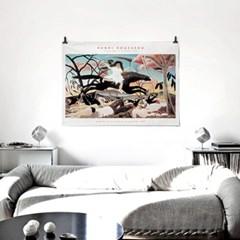 패브릭 포스터 명화 그림 일러스트 액자 앙리 루소 4