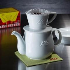 칼리타 하사미 커피 포트 S-화이트