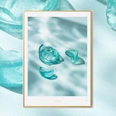 인테리어액자 타이드 아트프레임 SeaGlass 003 (A1/A2/A3)