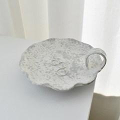 Spongeware 손잡이플레이트 - sandy gray