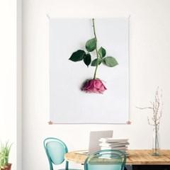 패브릭 포스터 인테리어 그림 액자 꽃 식물 로즈A