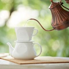 칼리타 하사미 커피 포트-화이트