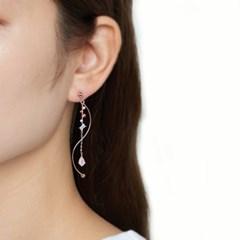 웨이브 멀티 드랍 귀걸이