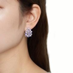 컬러꽃 커브 귀걸이