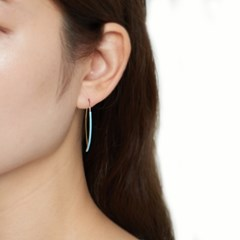 컬러 라인 심플 귀걸이