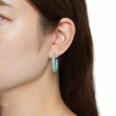 뉴트럴 컬러 링 귀걸이
