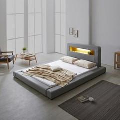 파로마 로렌스 LED 고급가죽 저상형 침대 퀸(Q)_오픈형