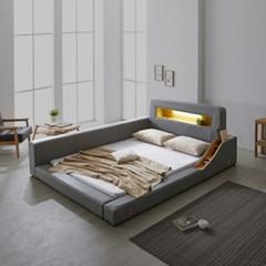 파로마 로렌스 LED 고급가죽 저상형 침대 슈퍼싱글(SS)_높은수납형