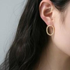 oval wreath earrings (2colors)
