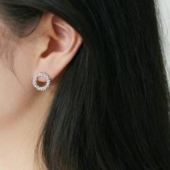 circle wreath earrings (2colors)