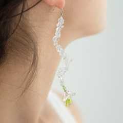 ice flower drop earrings