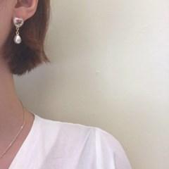 [빈티지 진주 드롭 귀걸이] 페일 이어링