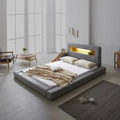 파로마 로렌스 LED 고급가죽 저상형 침대 퀸(Q)_낮은수납형