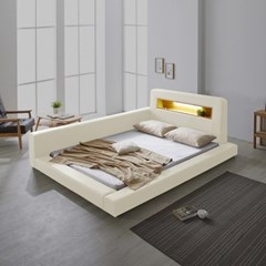 파로마 로렌스 LED 고급가죽 저상형 침대 퀸(Q)_기본형