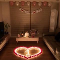 프로포즈이벤트- led촛불과 장미꽃세트