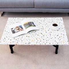 테라조 900 접이식 좌식 테이블/좌탁/소파테이블