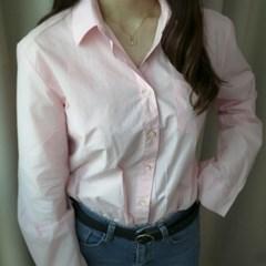 여자 핑크 셔츠 남방 베이직_(928088)