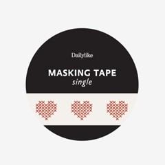 Masking tape single - 159 Heart cross stitch