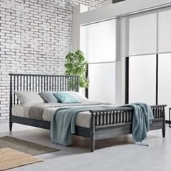 [리코베로]밀라노 북유럽 모던 원목 통깔판 침대 퀸사이즈 3컬러