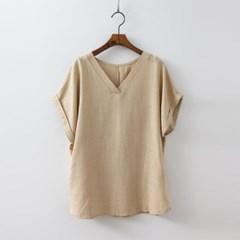 Linen V-Neck Blouse