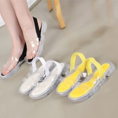 kami et muse Clear band trandy sandals_KM19s274