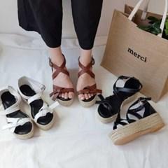 kami et muse Knot strap platform espadrille sandals_KM19s271