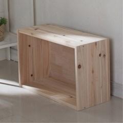 삼나무 원목 공간박스 와이드1단_(1059868)