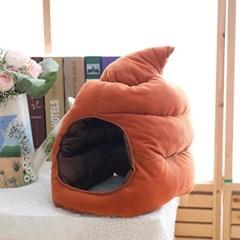 큐티 후드모자 [똥] 브라운