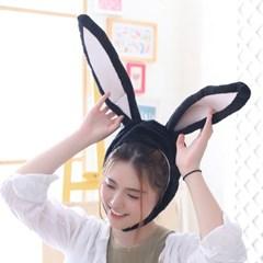 큐티 후드모자 [섹시 토끼] 블랙_(11744306)