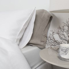 Premium Soft Touch Linen long Pillowcase_natural