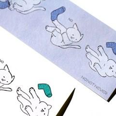 [노낫네버] 양말신는 고양이 스티커(6매)