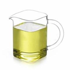 모던 숙우 사각 유리잔 1개