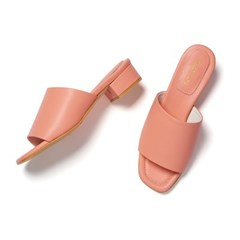 YJ0018 Crayon Mule coral pink_3cm (소가죽)