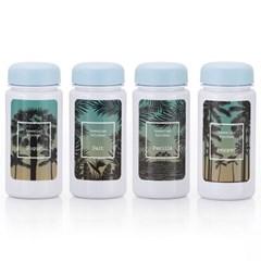 하와이안키친 유백색(블루) 양념통 4P+스티커 8종