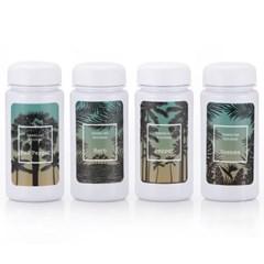하와이안키친 유백색(화이트) 양념통 4P+스티커 8종