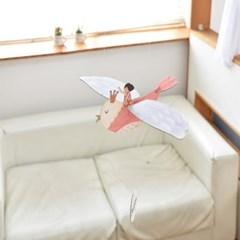 [버드힐링모빌] 날갯짓하는 새모빌 피치새